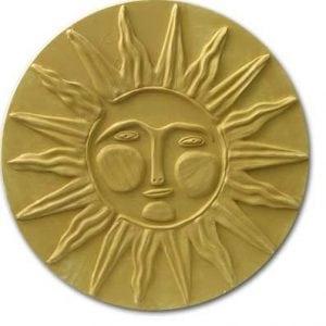 Sun Face Stepping Stone Mold