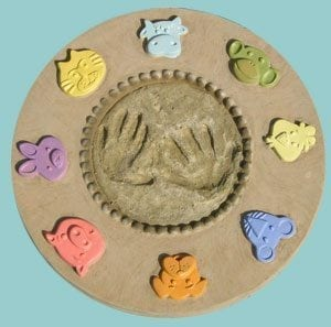 Making a Kid's Handprint Stepping Stone